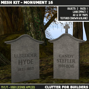 Clutter - Mesh Kit - Monuments 16 - ad