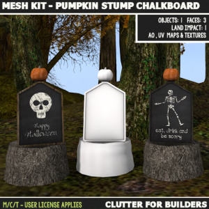 Clutter - Mesh Kit - Pumpkin Stump Chalkboard - ad
