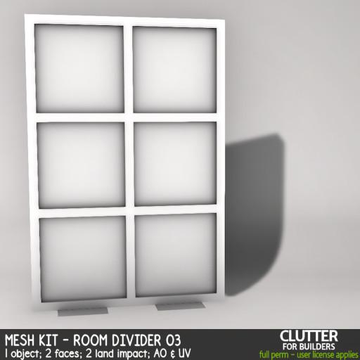 Clutter - Mesh Kit - Room Divider 03 - ad