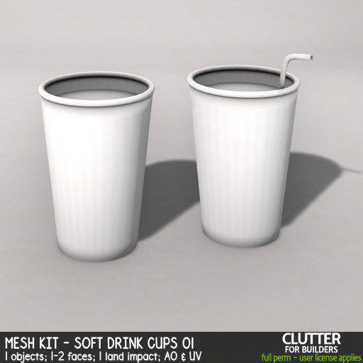 Clutter - Mesh Kit - Soft Drink Cups 01 - ad