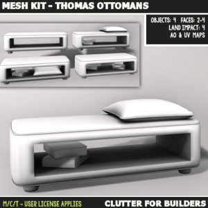 Clutter - Mesh Kit - Thomas Ottomans - ad