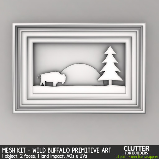 Clutter - Mesh Kit - Wild Buffalo Primitive Art - ad