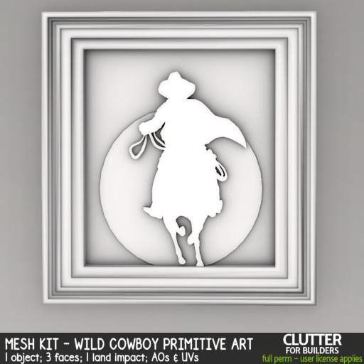 Clutter - Mesh Kit - Wild Cowboy Primitive Art - ad