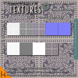 E&D ENGINEERING_ kits - Tiles Ornate Surfaces kTOS026_