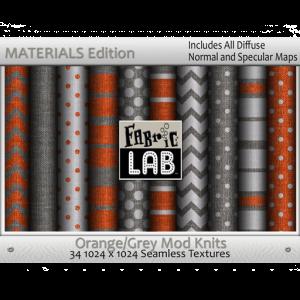 Fabric Lab Mod Knits Orange Grey Materials Edition