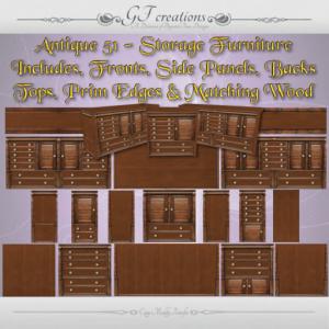 GFC-Antique 51 Storage Furniture Set - Ad