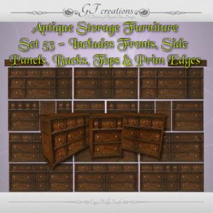 GFC-Antique Storage Furniture Set 53 - Ad