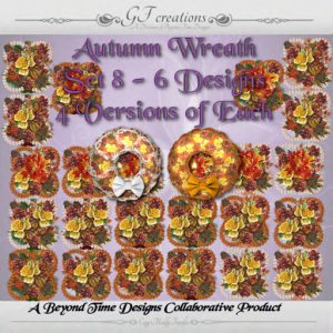 GFC-Autumn Wreath Set 8 -Ad