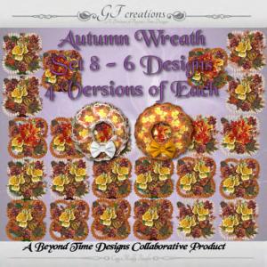 GFC-Autumn Wreath Set 8 -Ad
