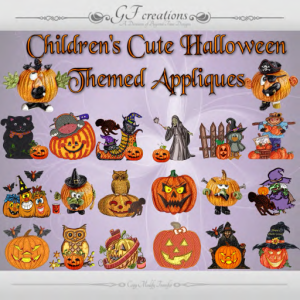 GFC-Cute Childrens Halloween Appliques - Ad
