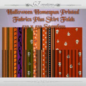 GFC-Halloween Homespun Printed Fabrics -Ad