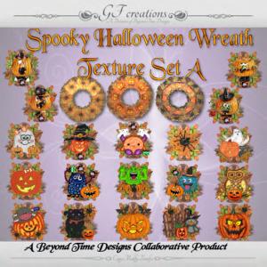 GFC -Spooky Halloween Wreath - Set A - Ad