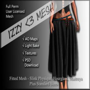 Izzy _3 Mesh - Ragdoll Skirt PSD Version