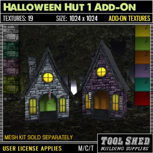 Tool Shed - Halloween Hut 1 Add-On Textures Ad