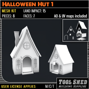 Tool Shed - Halloween Hut 1 Mesh Kit Ad