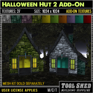 Tool Shed - Halloween Hut 2 Add-On Textures Ad