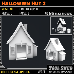 Tool Shed - Halloween Hut 2 Mesh Kit Ad