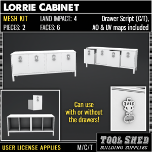 Tool Shed - Lorrie Cabinet Mesh Kit Ad