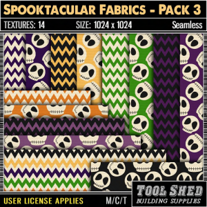 Tool Shed - Spooktacular Fabrics - Pack 3 Ad