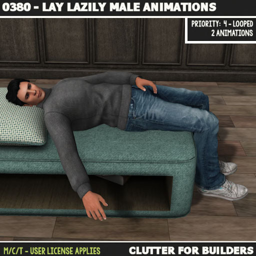 clutter-0380-lay-lazily-male-animations-ad