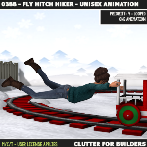clutter-0388-fly-hitch-hiker-unisex-animation-ad