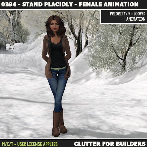 clutter-0394-stand-placidly-female-animation-ad