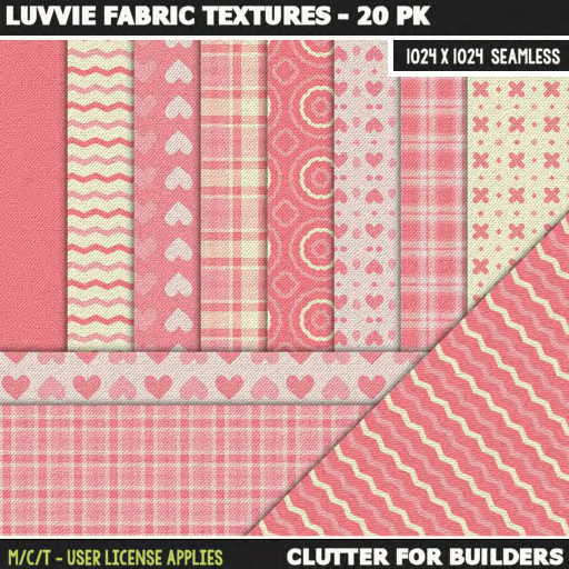 clutter-luvvie-fabric-textures-20pk