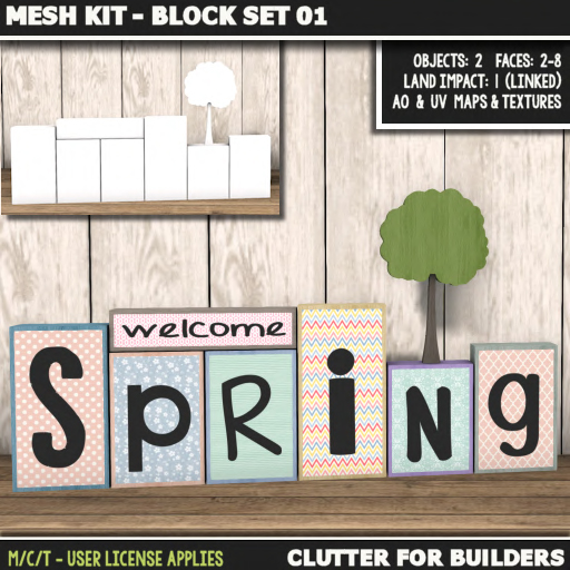 Clutter - Mesh Kit - Block Set 01 - ad
