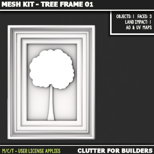 Clutter - Mesh Kit - Tree Frame 01 - ad