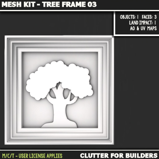 Clutter - Mesh Kit - Tree Frame 03 - ad