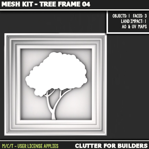 Clutter - Mesh Kit - Tree Frame 04 - ad