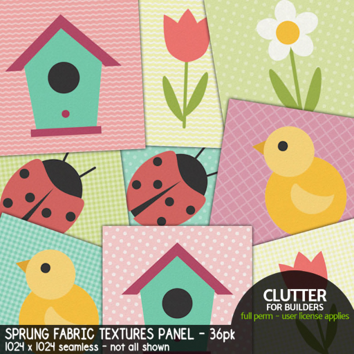 Clutter - Sprung Fabric Textures Panel - 36-pk - ad