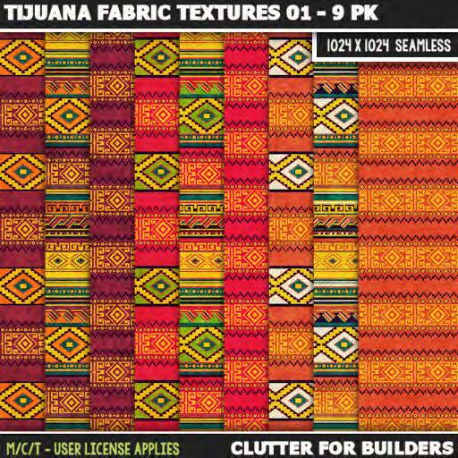 Clutter - Tijuana Fabric Textures 01 - 9PK - ad