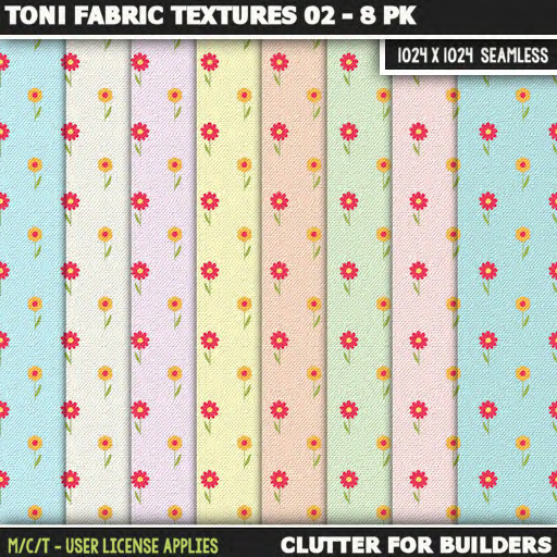 Clutter - Toni Fabric Textures 02 - 8PK - ad