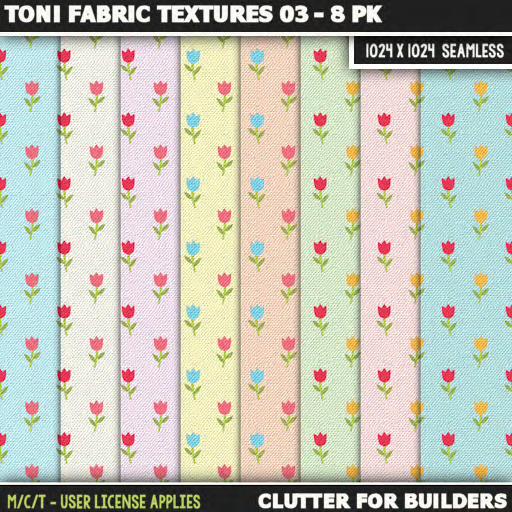 Clutter - Toni Fabric Textures 03 - 8PK - ad