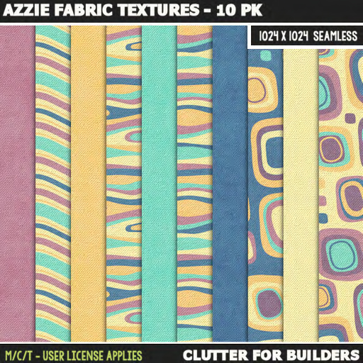 Clutter - Azzie Fabric Textures - 10PK - ad