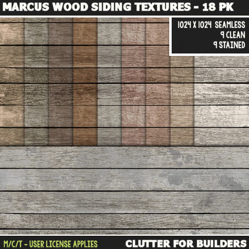 Clutter - Marcus Wood Siding Textures - 18PK - ad