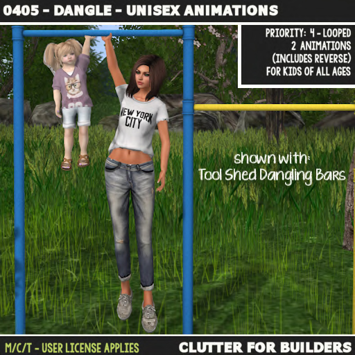 Clutter - 0405 - Dangle - Unisex Animations - ad