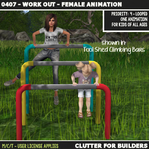 Clutter - 0407 - Work Out - Female Animation - ad