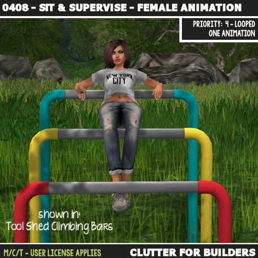 Clutter - 0408 - Sit & Supervise - Female Animation - ad