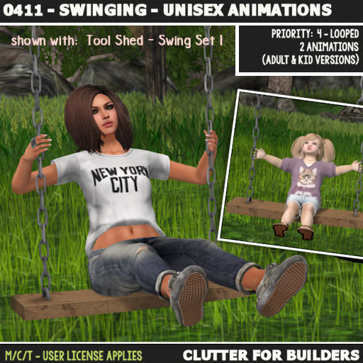 Clutter - 0411 - Swinging - Unisex Animations - ad