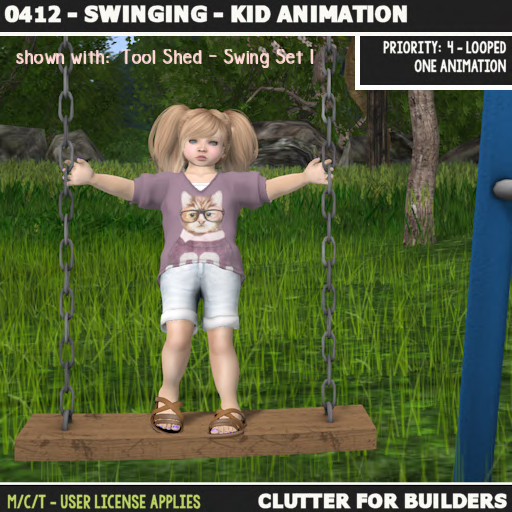 Clutter - 0412 - Swinging - Kid Animation - ad