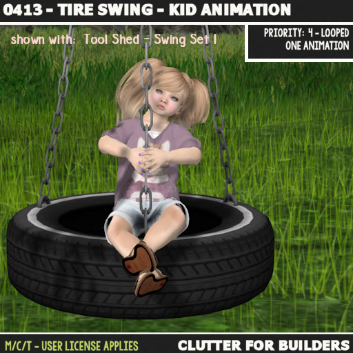 Clutter - 0413 - Tire Swing - Kid Animation - ad