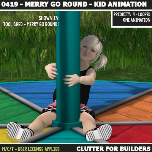 Clutter - 0419 - Merry Go Round - Kid Animation - ad