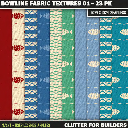 Clutter - Bowline Fabric Textures 01 - 23PK - ad