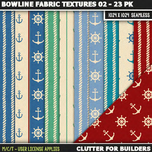 Clutter - Bowline Fabric Textures 02 - 23PK - ad
