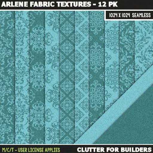 Clutter - Arlene Fabric Textures - 12PK - ad