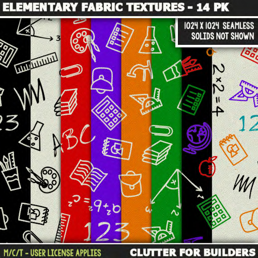 Clutter - Elementary Fabric Textures - 14PK - ad