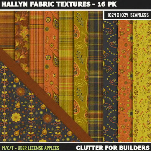 Clutter - Hallyn Fabric Textures - 16PK - ad