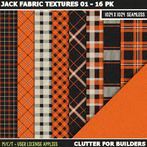 Clutter - Jack Fabric Textures 01 - 16PK - ad
